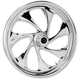 Front 23 in. x 3.75 in. Drifter One-Piece Forged Aluminum Chrome Wheel - 23375-9917-101C