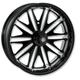 16 in. x 5 in. Boss One-Piece Black Ops Aluminum Wheel for Models w/ABS - 12697612RBSSSMB