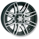 Front or Rear Black SS316 Alloy 12x7 Wheel - 1228517536B