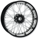 23 in. x 3.5 in. Front Spoked Platinum Cut Custom Wire Wheel for Models w/o ABS - 12026306RSPKBMP