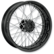 23 in. x 3.5 in. Front Spoked Black Ops Custom Wire Wheel for Models w/ ABS - 12046306RSPKSMB