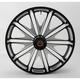 23 in. x 3.5 in. Boss One-Piece Contrast-Cut Aluminum Wheel for Models w/o ABS - 12027306RBSSBM