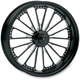 23 in. x 3.5 in. Domino One-Piece Contrast Cut Aluminum Wheel for Models w/ ABS - 12047306RDOMBM