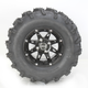 Rear Left Gloss Black 387X Tire/Wheel Kit - 0331-1165