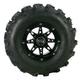 Rear Right Gloss Black 387X Tire/Wheel Kit - 0331-1174