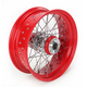 16 in. x 5.5 in. Rear Lace Red Powder-Coated 40-Spoke Wheel Assembly - 226-S40RR
