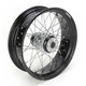 18 in. x 5.5 in. Rear Lace Black Powder-Coated 40-Spoke Wheel Assembly - 228-S40RB