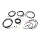 Midnight Braided Complete Handlebar Cable and Brake Line Kit for use w/Mini Ape Hangers - LA-8053KT2-08M