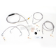 Throttle-by-Wire Handlebar Cable and Brake Line Kit for Use w/15 in. - 17 in. Ape Hangers w/ABS - LA-8050KT-16