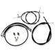 Black Vinyl Handlebar Cable and Brake Line Kit for Use w/OEM Handlebars - LA-8150KT-00B
