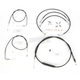 Black Vinyl Handlebar Cable and Brake Line Kit for Use w/Mini Ape Hangers - LA-8150KT-08B