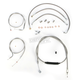 Stainless Braided Handlebar Cable and Brake Line Kit for Use w/OEM Handlebars - LA-8150KT-00