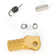Gold +5mm Knurled Shift Tip - 01-0000-04-50