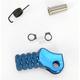 Blue +10mm Knurled Shift Tip - 01-0000-06-20