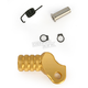 Gold +15mm Knurled Shift Tip - 01-0000-08-50