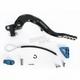 Rear Brake Pedal Lever Kit with Blue Standard Aluminum Brake Tip - 02-0223-21-22