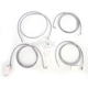 Stainless Steel Cable and Brake Line Kit For Use with Mini Ape Hangers (w/ABS) - LA-8052KT-08