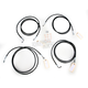 Black Vinyl Coated Stainless Steel Cable and Brake Line Kit For Use with Mini Ape Hangers w/ABS - LA-8052KT-08B