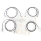 Stainless Steel Cable and Brake Line Kit For Use with 15-17 Inch Ape Hangers w/ABS - LA-8052KT-16