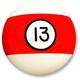 Red Billard Ball Shifter Ball - SK200-13