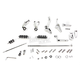 Chrome 2 in. Extended Forward Control Kit - 1622-0488