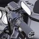 Black Beveled Front Clutch Master Cylinder Cover - 03-439