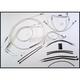 Custom Sterling Chromite II Designer Series Handlebar Installation Kit for Use w/15 in. - 17 in. Ape Hangers (Non-ABS) - 387202