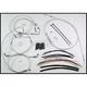 Custom Sterling Chromite II Designer Series Handlebar Installation Kit for Use w/18 in. - 20 in. Ape Hangers (w/ABS) - 387323