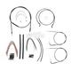 Black Pearl Designer Series Handlebar Installation Kit for Use w/12 in. - 14 in. Ape Hangers - 487451