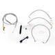 Stainless Braided Handlebar Cable and Brake Line Kit for Use w/12 in. - 14 in. Ape Hangers (w/o ABS) - LA-8011KT-13