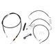 Black Vinyl Handlebar Cable and Brake LineKit for Use w/15 in. - 17 in. Ape Hangers (w/o ABS) - LA-8011KT-16B