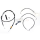 Black Vinyl Handlebar Cable and Brake Line Kit for Use w/18 in. - 20 in. Ape Hangers (w/o ABS) - LA-8011KT-19B