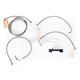 Stainless Braided Handlebar Cable and Brake Line Kit for Use w/Mini Ape Hangers (w/o ABS) - LA-8012KT-08