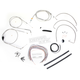 Stainless Braided Handlebar Cable and Brake Line Kit for Use w/Mini Ape Hangers - LA-8005KT2A-08