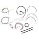 Black Vinyl Handlebar Cable and Brake Line Kit for Use w/Mini Ape Hangers - LA-8005KT2A-08B