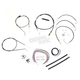 Black Vinyl Handlebar Cable and Brake Line Kit for Use w/18 in. - 20 in. Ape Hangers (w/o ABS) - LA-8005KT2A-19B