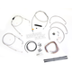 Stainless Braided Handlebar Cable and Brake Line Kit for Use w/Mini Ape Hangers (w/o ABS) - LA-8005KT2B-08