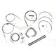 Black Vinyl Handlebar Cable and Brake Line Kit for Use w/Mini Ape Hangers (w/o ABS) - LA-8005KT2B-08B