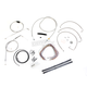 Stainless Braided Handlebar Cable and Brake Line Kit for Use w/15 in. - 17 in. Ape Hangers (w/o ABS) - LA-8005KT2B-16