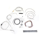 Stainless Braided Handlebar Cable and Brake Line Kit for Use w/18 in. - 20 in. Ape Hangers (w/o ABS) - LA-8005KT2B-19