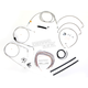 Stainless Braided Handlebar Cable and Brake Line Kit for Use w/Mini Ape Hangers (w/o ABS) - LA-8006KT2A-08