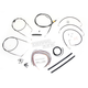 Black Vinyl Handlebar Cable and Brake Line Kit for Use w/Mini Ape Hangers (w/o ABS) - LA-8006KT2A-08B