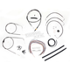 Black Vinyl Handlebar Cable and Brake Line Kit for Use w/12 in. - 14 in. Ape Hangers (w/o ABS) - LA-8006KT2A-13B