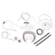 Stainless Braided Handlebar Cable and Brake Line Kit for Use w/18 in. - 20 in. Ape Hangers (w/o ABS) - LA-8006KT2A-19