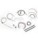 Black Vinyl Handlebar Cable and Brake Line Kit for Use w/18 in. - 20 in. Ape Hangers (w/o ABS) - LA-8006KT2A-19B
