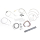 Stainless Braided Handlebar Cable and Brake Line Kit for Use w/Mini Ape Hangers (w/o ABS) - LA-8006KT2B-08