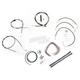 Black Vinyl Handlebar Cable and Brake Line Kit for Use w/Mini Ape Hangers (w/o ABS) - LA-8006KT2B-08B