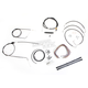 Black Vinyl Handlebar Cable and Brake Line Kit for Use w/12 in. - 14 in. Ape Hangers (w/o ABS) - LA-8006KT2B-13B