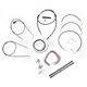 Black Vinyl Handlebar Cable and Brake Line Kit for Use w/15 in. - 17 in. Ape Hangers (w/o ABS) - LA-8006KT2B-16B