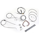 Black Vinyl Handlebar Cable and Brake Line Kit for Use w/18 in. - 20 in. Ape Hangers (w/ABS) - LA-8006KT2B-19B